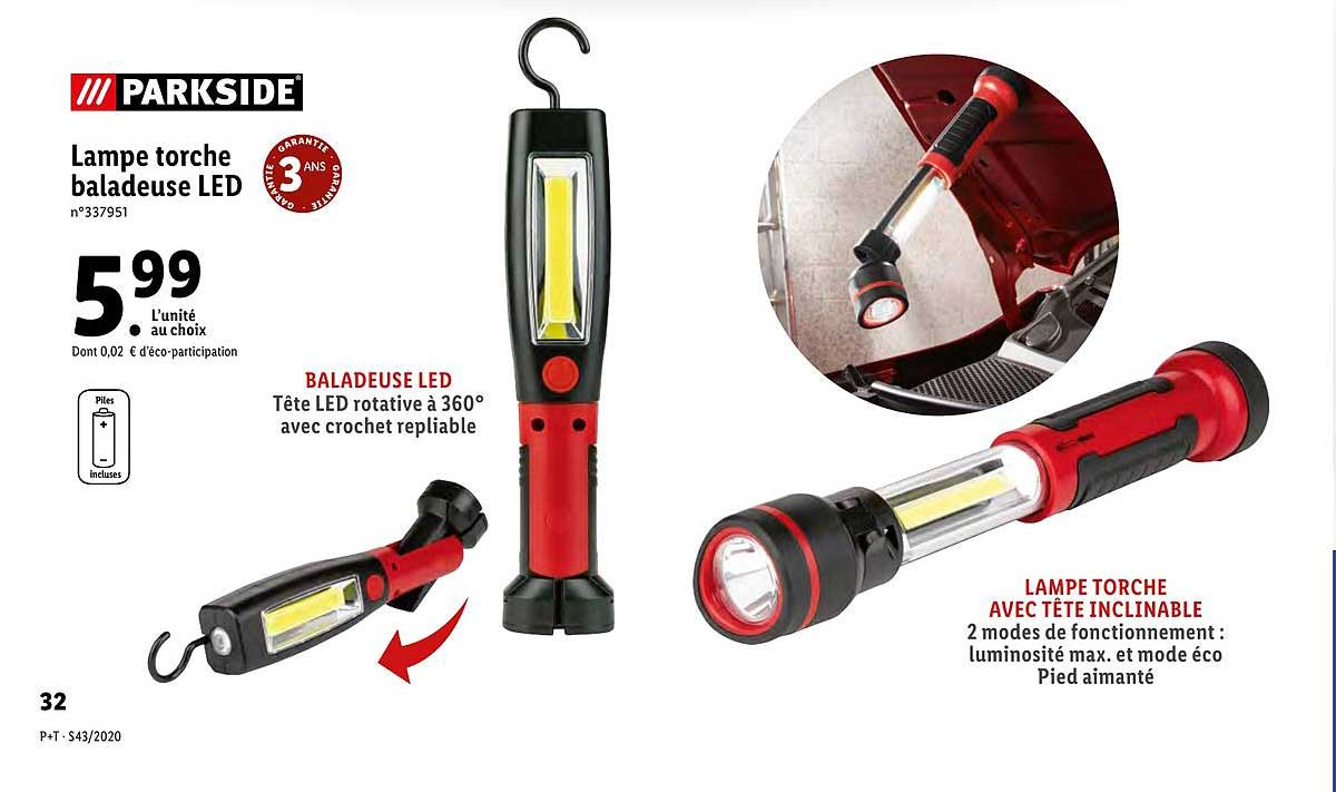 offre lampe torche baladeuse led