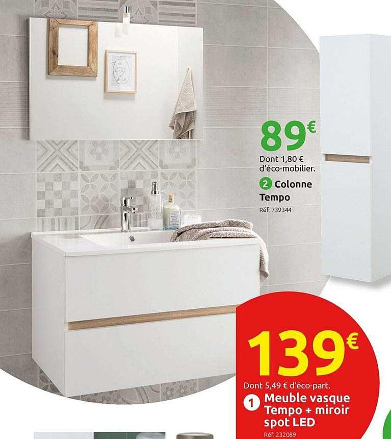 Offre Armoire De Toilette Tempo Chez Bricomarche