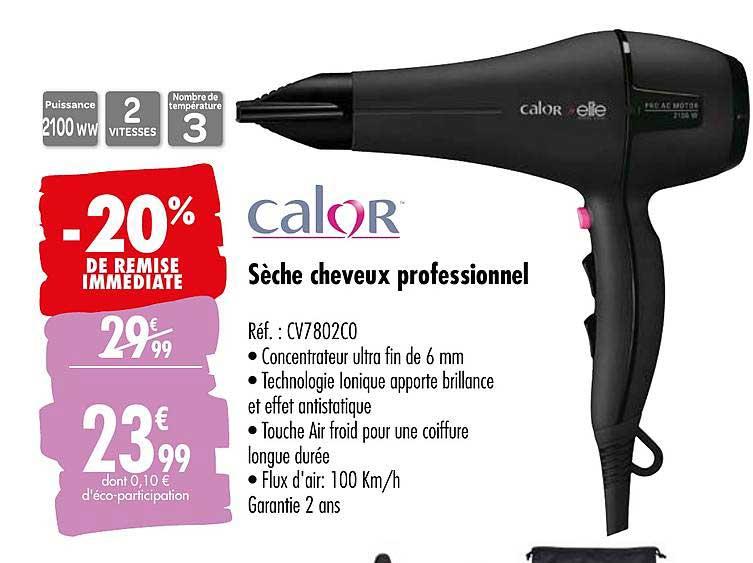 Offre Seche Cheveux Professionnel Elsay Chez E Leclerc
