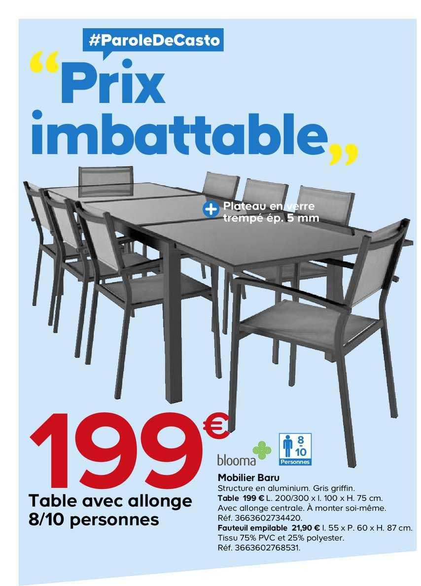 offre table avec allonge 8 10 personnes