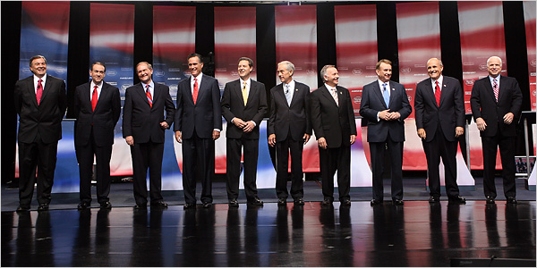 Republican Candidates Hold First Debate, Differing on ...