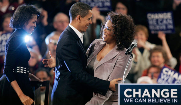 Oprah Winfrey Hits Campaign Trail for Obama - The New York ...
