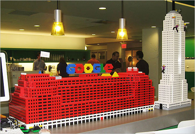 Something Google Doesn t Want You to See   The New York Times     Lego representation of the Chelsea office building