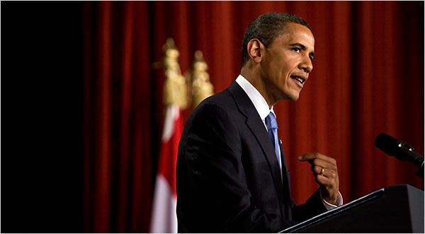 Addressing Muslims, Obama Pushes Mideast Peace - The New ...