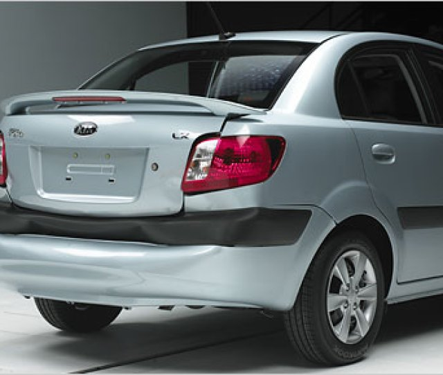Insurance Institute For Highway Safety The Kia Rio After Bumper Testing Sustained The Highest Total Damage