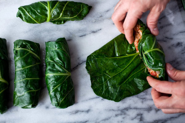 Image result for cooked collard greens