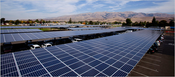 In California Carports That Can Generate Electricity