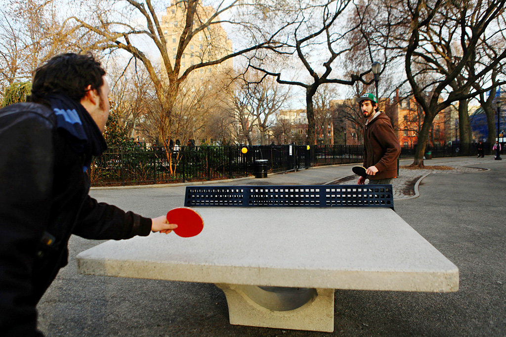 Where The Joys Of Ping Pong Are A Public Event The New York Times