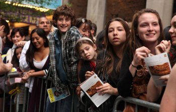 Image result for kids attending broadway show