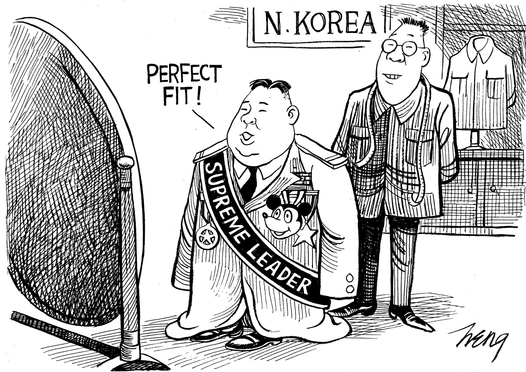 Editorial Cartoon On Kim Jong Un