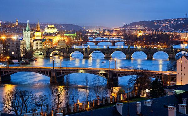 Vltava River à Prague