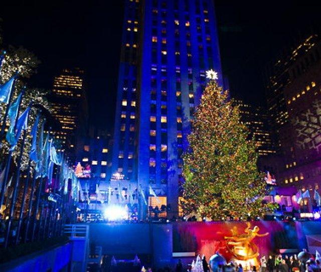 The Giant Tree At Rockefeller Center In New York