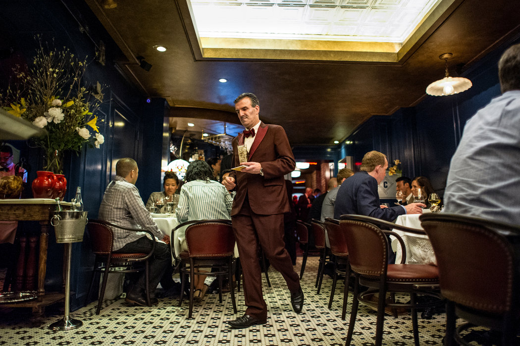 Restaurant Review  Carbone in Manhattan   The New York Times The restaurant s interior is full of fanboy film allusions     the tile floor  from    The Godfather     for one  Credit Daniel Krieger for The New York Times
