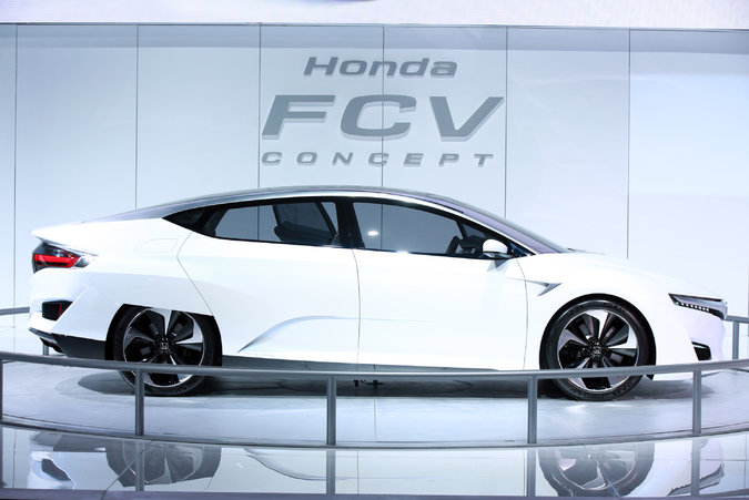 Hondau0027s New FCV Car Was Unveiled. Credit Fabrizio Costantini For The New  York Times