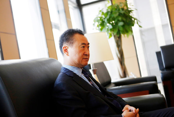 Mr. Wang has emerged as the rare private-sector tycoon in a position to advance Beijing's interests abroad, with international clout. Credit Adam Dean for The New York Times