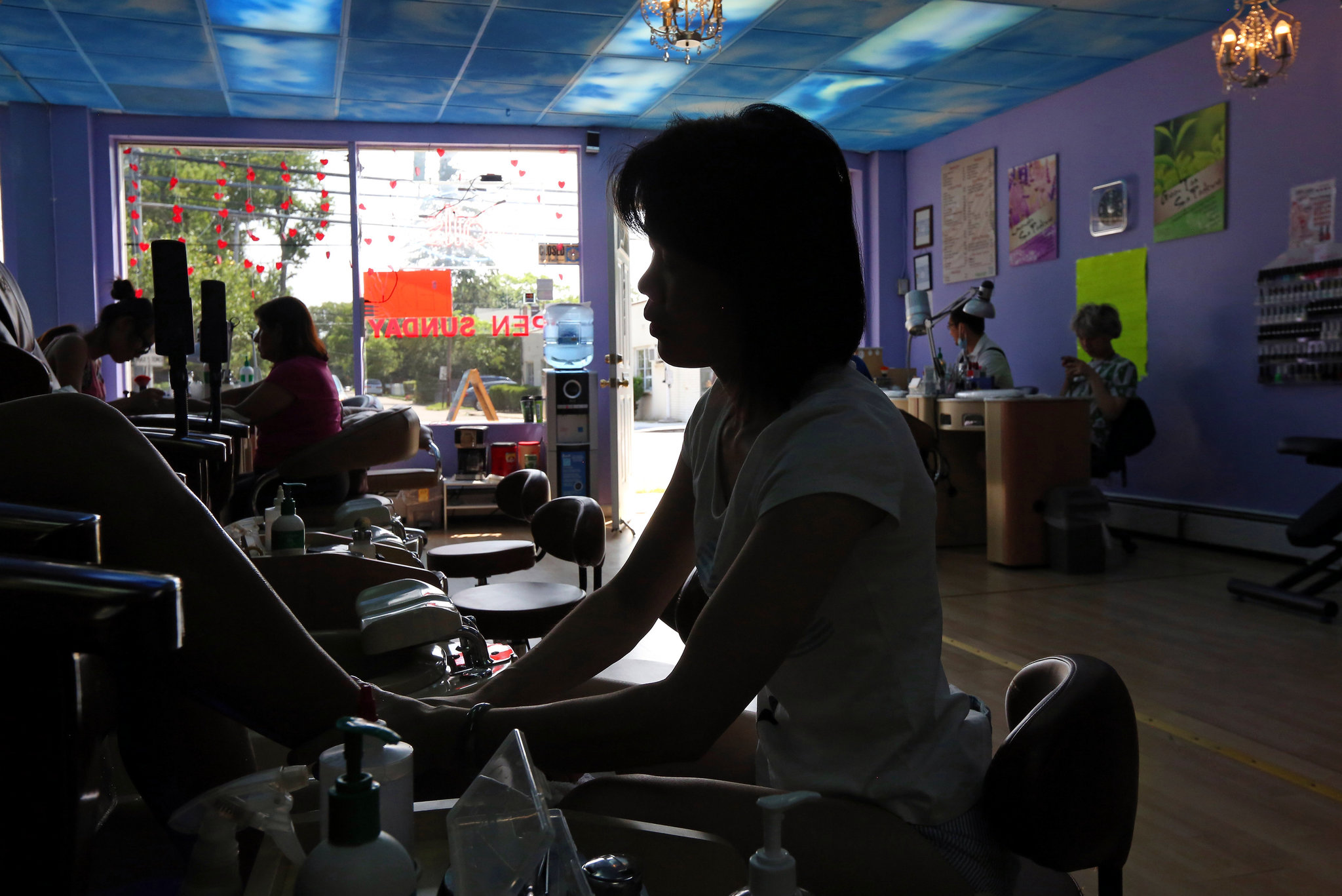 A Worker Gives Pedicure At Relaxing Town Nails And Spa In Huntington Station N Y Credit Nicole Bengiveno The New York Times