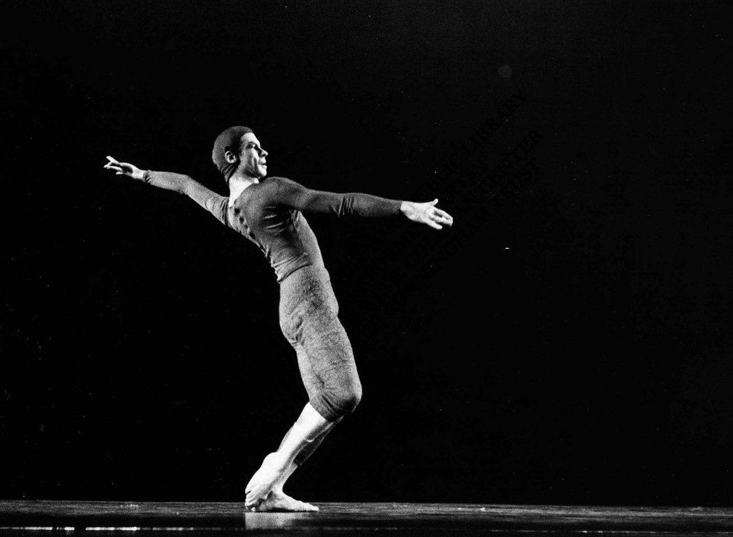 "Merce Cunningham in ""Changeling"" in 1957"