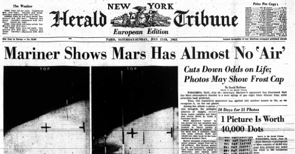 1965: Spacecraft Relays First Images of Mars - The New ...