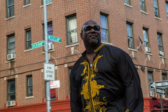 Felix M. Sarpong in NYC (Photo Credit: NY Times)