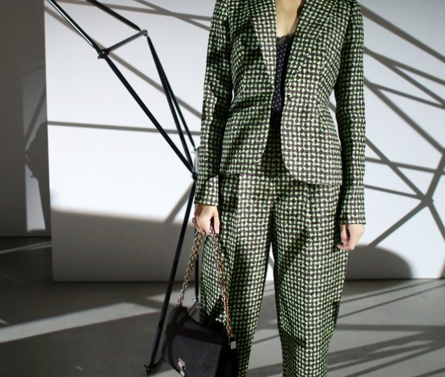 Caroline Issa In A Delpozo Suit Paired With A Proenza Schouler Bag And Miu Miu Shoes Credit Yana Paskova For The New York Times