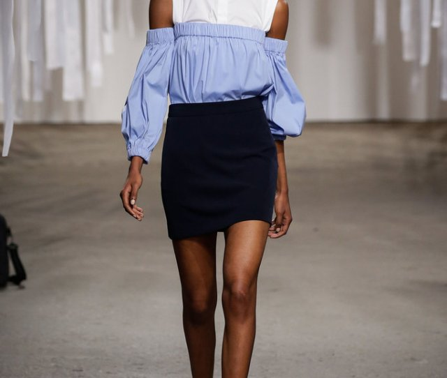 Off The Shoulder Necklines At Milly Credit Jp Yim Getty Images