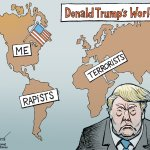 Opinion Cartoon The World According To Donald Trump The New York Times