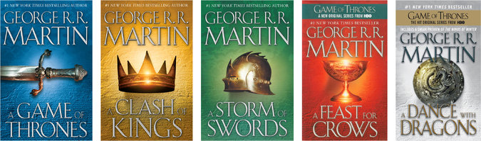 Image result for a game of thrones series books