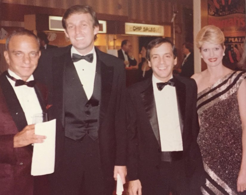 Image result for young donald trump with roy cohn