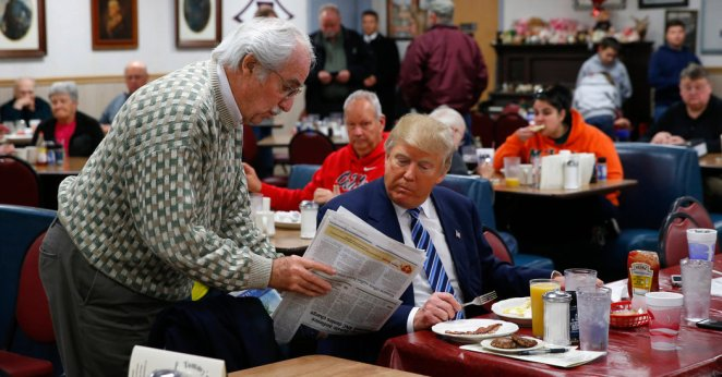 Image result for donald-trump with bowls of KFC