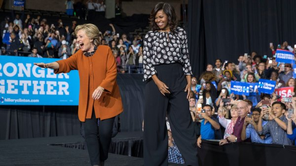 Hillary Clinton Basks in First Lady's Soaring Popularity ...