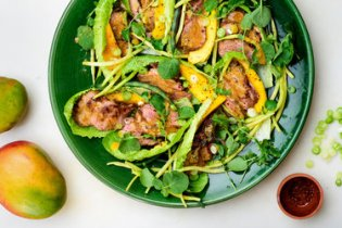 Miso duck is good in any season, but especially as the star element in a main course salad, perfect for summer.