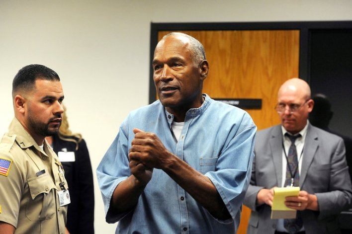 02Simpson master768 - O.J. Simpson Is Freed on Parole in Nevada After 9 Years