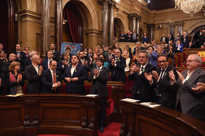 28Spain3 sub master675 - Spain Dismisses Catalonia Government After Region Declares Independence