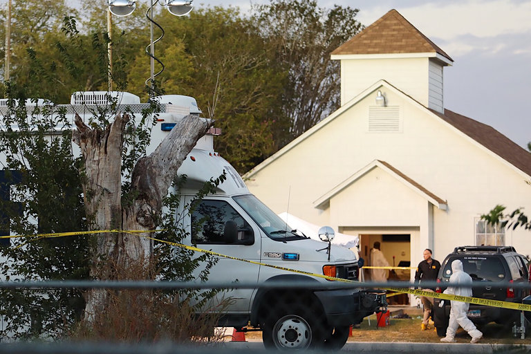 06xp shooting hp slide OUPH master768 - Texas Church Shooting Leaves at Least 26 Dead, Officials Say
