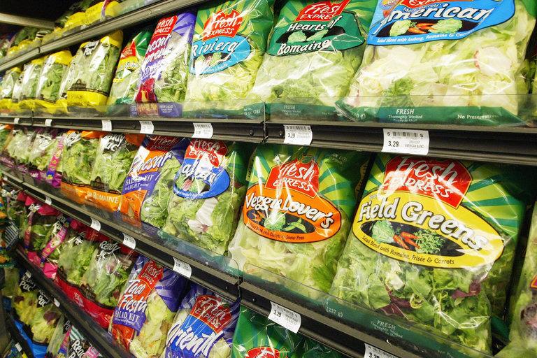 Prepackaged Salad Greens