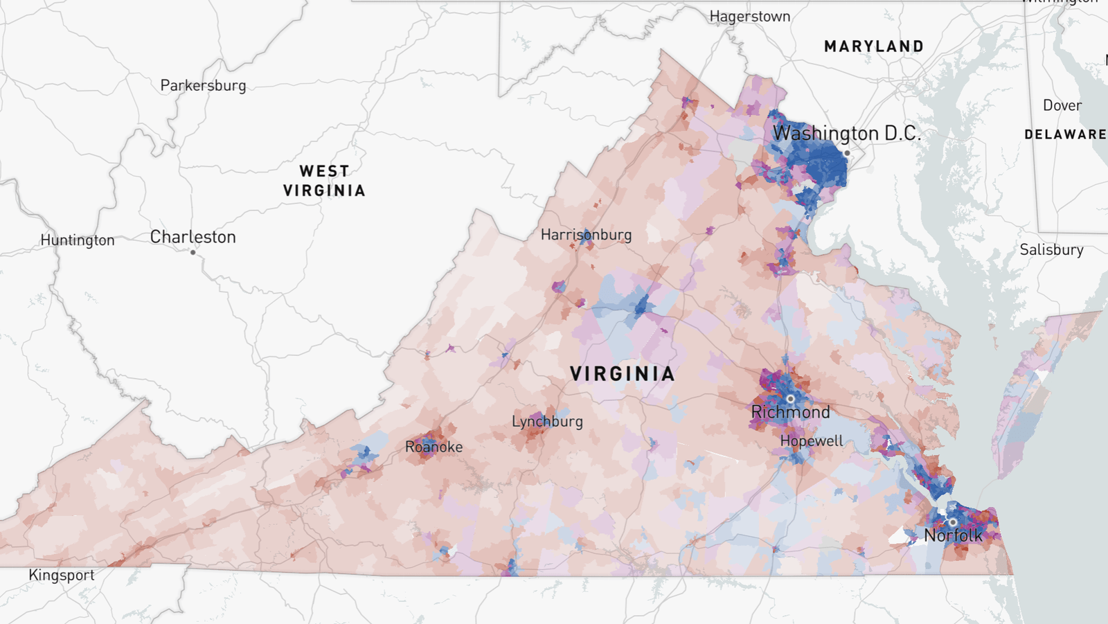 4 Maps Show How Democrats Won The Virginia Governor Race