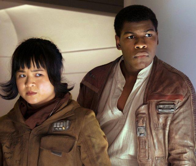 Kelly Marie Tran As Rose And John Boyega As Finn In The Last Jedi David James Lucasfilm Spoiler Alert