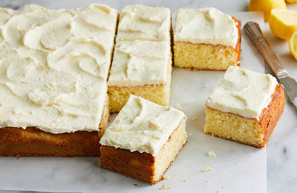 Lemon Sheet Cake With Buttercream Frosting Recipe   NYT Cooking Lemon Sheet Cake With Buttercream Frosting