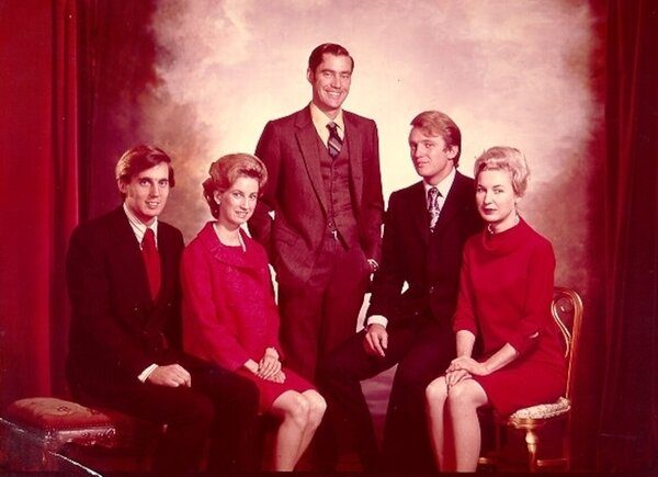 The Trump siblings from left, Robert, Elizabeth, Fred Jr., Donald and Maryanne.