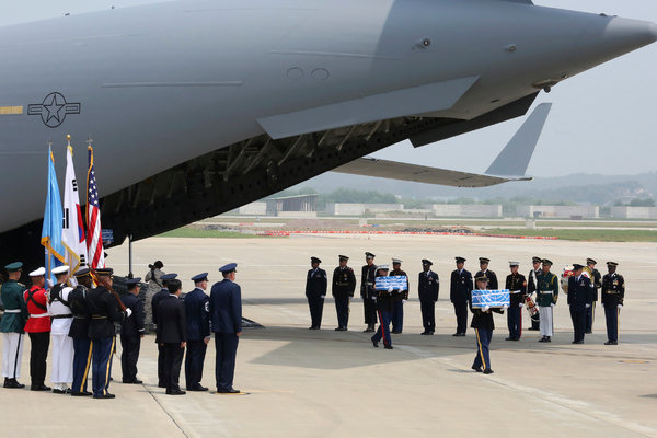 Remains of 55 U.S. War Dead in North Korea Start Journey ...