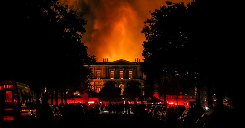 Brazil Museum Fire Threatens Hundreds of Years of History   The New     Brazil Museum Fire Threatens Hundreds of Years of History   The New York  Times