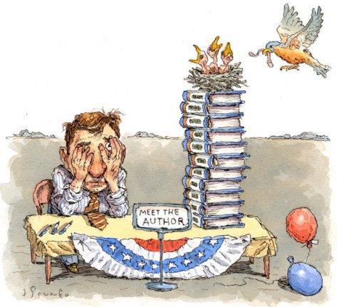 Image result for author book tour cartoon
