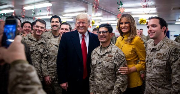 Trump Makes Surprise Visit to American Troops in Iraq ...