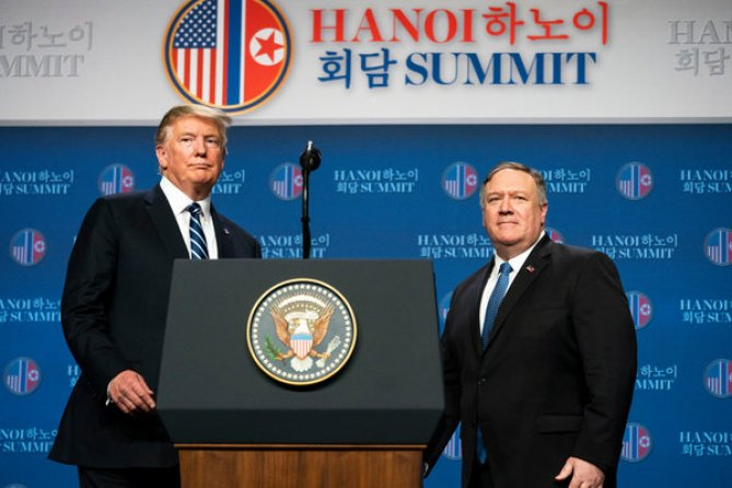 Image result for Summit Trump Kim in Hanoi ended