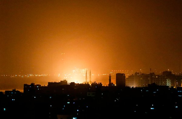 Israeli airstrikes against the Gaza Strip early Friday followed a rocket attack on Tel Aviv hours earlier.