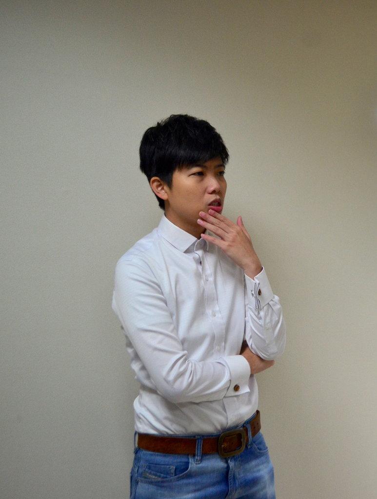 2019年2月,台北市议员苗博雅在议会办公室内。