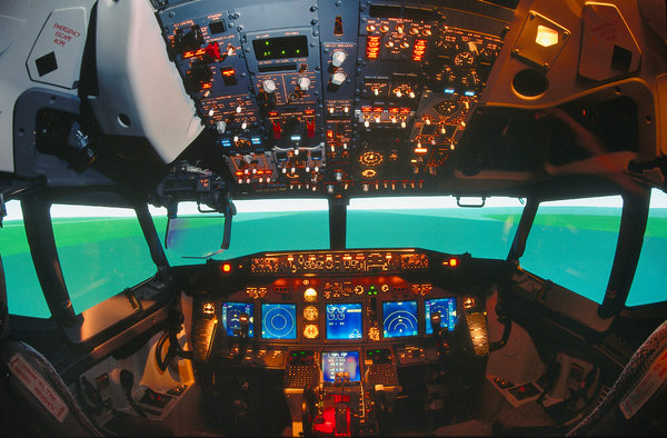A Boeing flight simulator.CreditCreditAviation-Images.com, via Getty Images