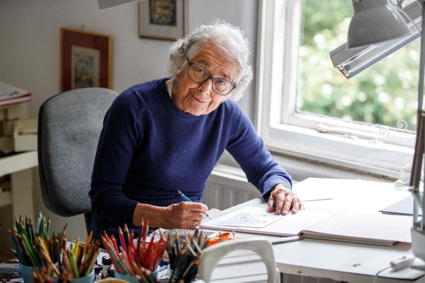 The Author And Illustrator Judith Kerr At Her Home In West London In 2018 She Is Best Known For Her Book The Tiger Who Came To Tea