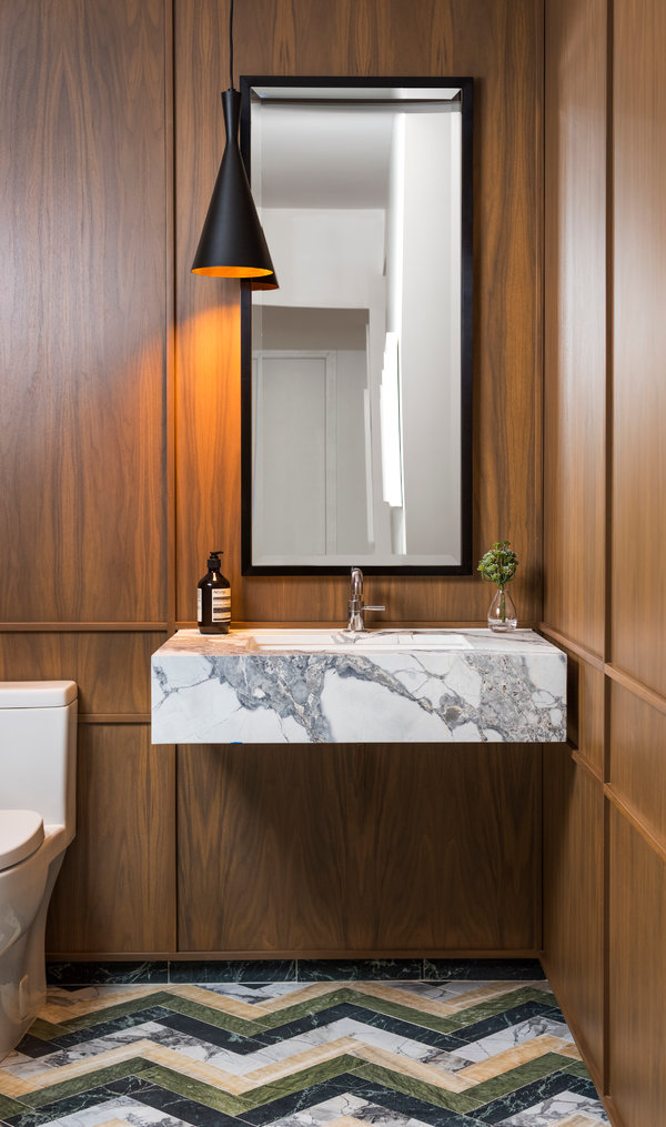 how to make the most of a powder room