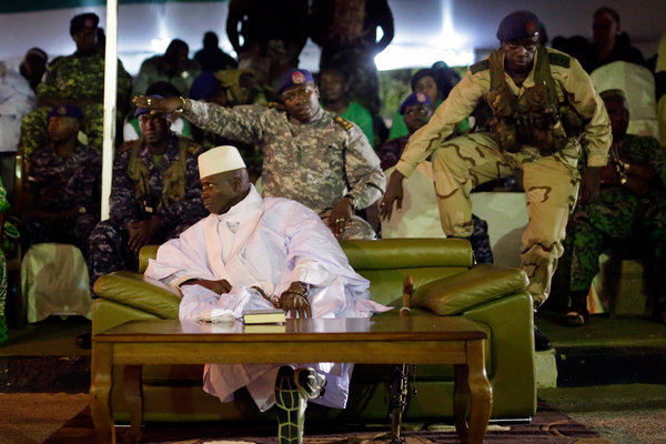 President Yahya Jammeh at his final rally in Banjul, Gambia, in 2016.
